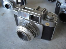 Vintage 35mm Agfa Germany Silette SL Camera with Color Solinar 1:2.8/50 Lens