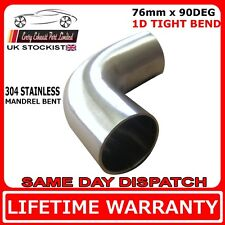 76mm 3 inch  90 degree tight 1D t304 stainless exhaust mandrel bend tube pipe
