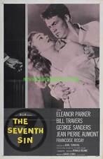 THE SEVENTH SIN MOVIE POSTER 27x41 Folded ONE SHEET 1957 ELEANOR PARKER