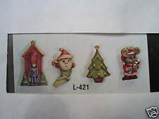 Gare Mold 2 Sided Christmas Ornaments Santa Tree, Mouse