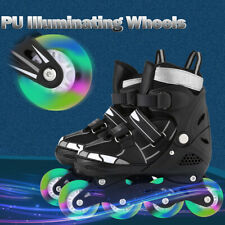 WeSkate Inline Skates Roller Shoes with Adjustable Size and Light up Wheel