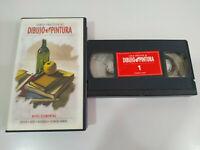 Curso Practico de Dibujo y Pintura Oleo Acuarela - VHS Cinta Español