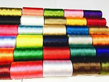 New 30 x Spools Sewing Machine Silk Art Embroidery Threads Brother Singer