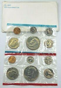 1975 US Mint P D Uncirculated 12 Coin Set
