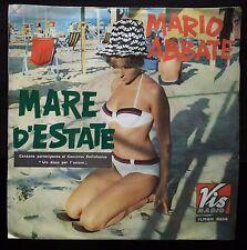 Mario Abbate – Mare D'Estate con il coro di Nora Orlandi 45 giri VG++/NM 1965