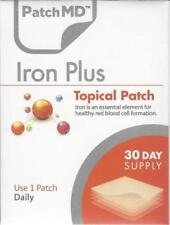 Iron Plus Topical PatchMD Patch Vitamin Supplement 30 Day Patch-MD expires 2022