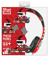 TRUST 20953 SPILA RACING CAR COMFORTABLE CHILD HEADPHONES SAFE VOLUME LIMITATION