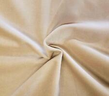 "Cream Cotton Velvet Velour Sewing Fabric Upholstery Drapery per Yard 54"" W"