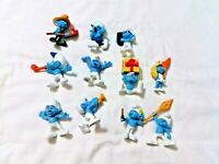 The Smurfs Action Figures Toy Set of 11 Cute Doll  Collectible Blue Smurf Toys