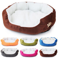Plush Pet Dog Cat Puppy Bed Puppy Cushion House Warm Kennel Mat Blanket Washable