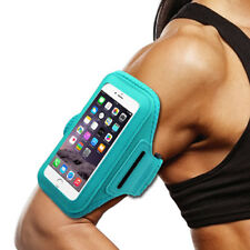 For Coolpad Revvl Plus Teal Sports Band Arm Holster Running Workout Ce