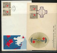 Thailand  2 cachet covers,  semi postal  stamps             MS0125