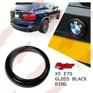BMW E70 Gloss Black Rear Badge Ring cover X5 boot 2006-15