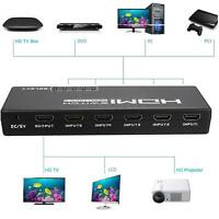 5-Port 1080P HDMI Switch Switcher Selector Splitter +Remote For HDTV PS3 DVD STB