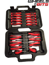 58 Pc Destornillador & Bit Set Kit De Herramienta Con Funda Plana Phillips Torx preciso 001