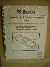 New Bobcat Operation & Maintenance Manual Tiller 40, 62, 76