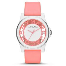 Marc Jacobs MBM4016 Henry Skeleton Neon Pink White Watch Rubber 41mm BRAND NEW