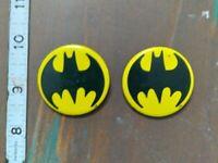 Lot of 2 BATMAN DC Comics Superhero Logo Symbol Button Pinback