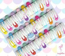 Glitter gel hair clips clip girls kids toddler pin hair pretty hairpin baby bulk