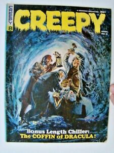 1965 Creepy Magazine #8 Grey Morrow Coffin of Dracula Cover & Reed Crandall Art