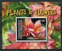 Micronesia 2015 MNH Plants & Flowers Frangipani Plumeria 1v S/S Flora Stamps