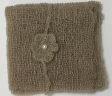 Olive Green Mohair Wrap and Matching Headband Photo Prop Newborn Photography