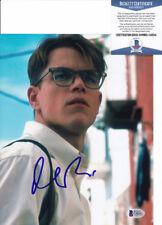 Matt Damon The Talented Mr Ripley Signed Autograph 8x10 Photo Beckett Bas Coa B