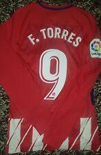 Fernando TORRES SIGNED proof Match UN Worn shirt Atletico de Madrid Spain