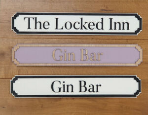 Personalised Street Sign - Custom Wooden Vintage Style / Pub / Shed - Free P&P