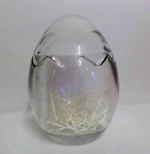 """New Lucky Star 5.5"""" Love Egg Shape Glass Bottle New Design"""