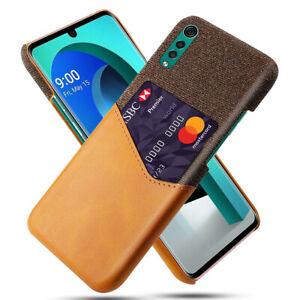 For LG Velvet 5G UW Case Shockproof Leather Cloth Texture Slim Wallet Back Cover