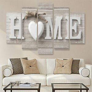 Love Home Letters 5 Pieces canvas Wall Art Picture Poster Home Decor