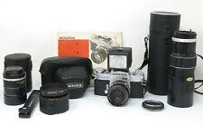 Macchina fotografica Miranda EE auto sensorex con ottiche accessori e manuale
