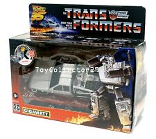 Transformers Back to the Future Mash-Up Gigawatt DeLorean Action Figure IN STOCK