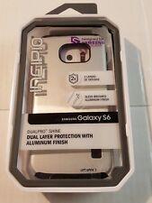 Samsung Galaxy S6 Case Incipio Dualpro Shine Aluminum Finish FREE SHIPPING