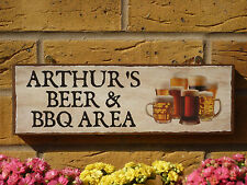 PERSONALISED NAME SIGN BEERS DRINKING AREA OUTDOOR BAR AREA PATIO SIGN TO ORDER