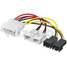 Cavo alimentazione per 4 Ventole da Molex a 2X 3 pin 12V + 2X 3 pin 5V