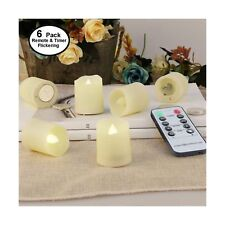 Flameless Candles with Timer - Remote Tealight Votive Candles - LED Tea Light...