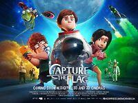 CAPTURE THE FLAG 2016 Original animated cinema quad movie poster 30 x 40 inches