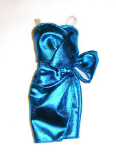 Barbie Fashion Blue Metallic Dress For Model Muse Dolls fn783