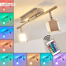 Plafonnier LED 2 branches Lampe suspension Changeur de couleur Lampe de corridor