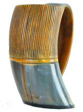 Drinkware Brown Tattoo Viking Antique OX Horn drinking mug Cup Natural stein vk