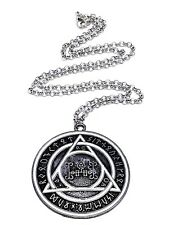 "Cosplay John Constantine Rune Protection Pendant 20"" Necklace Movie TV Prop"
