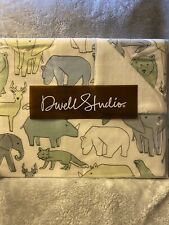 New Dwell Studio Caravan Animal Print Double Sided Cotton/Velour Baby Blanket