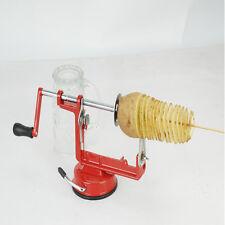 Tornado Spiral Potato Chips Twister Steel Slicer Cutter Red Color