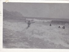 1980s Muscle nude naked man in the ocean beach gay interest Russian Soviet photo