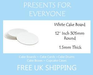 "10 x 12"" Round White Cake Board FREE SHIPPING"