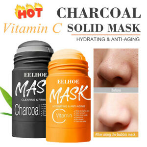 Charcoal Vitamin C Mask Purifying Clay Stick Oil Control & Clean Pore Solid Mask