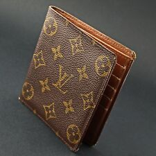 Stunning Vintage Louis Vuittons Brown & Gold Logo Leather Wallet, No Reserve!