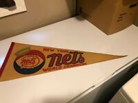 Vintage ABA 1976 - 77 Rare New York Nets Championship Pennant Banner 30x12""